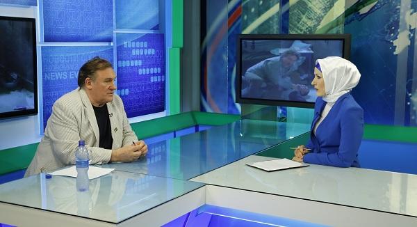 """Эксклюзивное интервью Жерара Депардье в студии телеканала """"Грозный"""""""