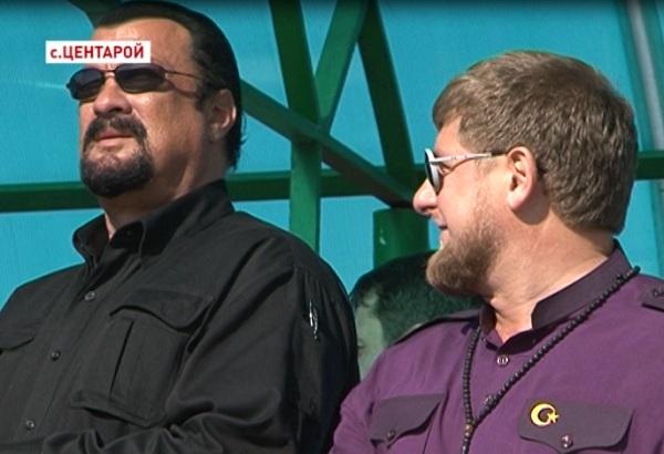 Визит Рамзана Кадырова и Стивена Сигала на тренировочные учения силовых структур ЧР
