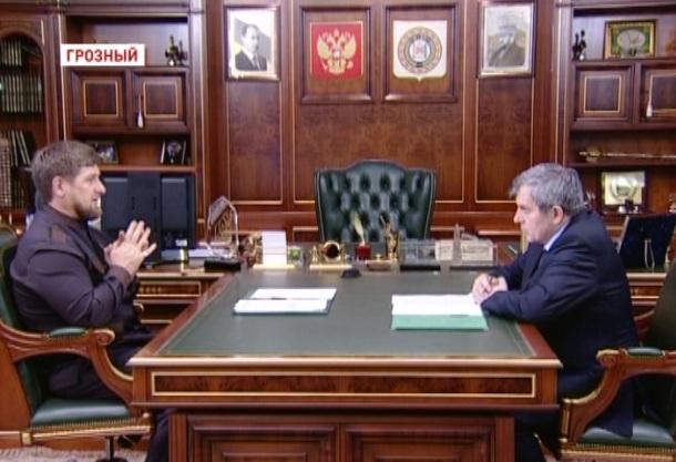 Глава Чеченской Республики встретился с председателем Парламента ЧР Дукувахой Абдурахмановым